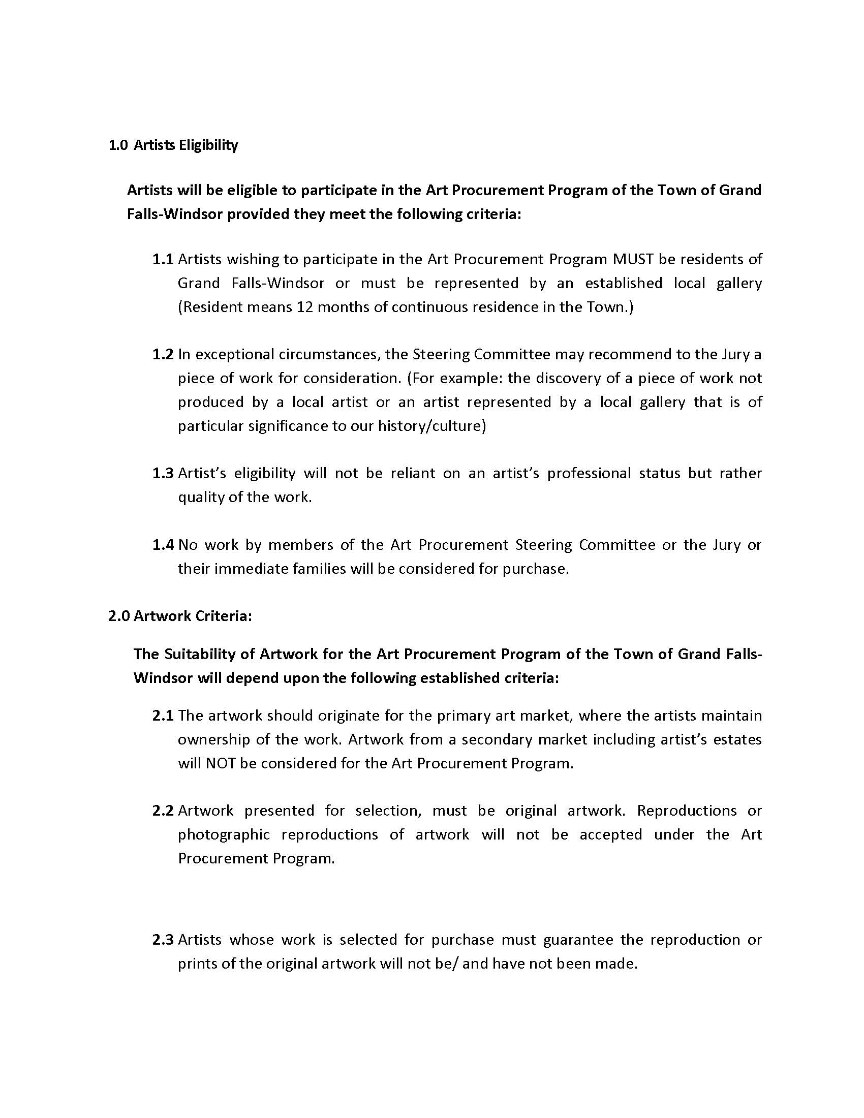 ART PROCUREMENT REGULATIONS 2017 Page 3