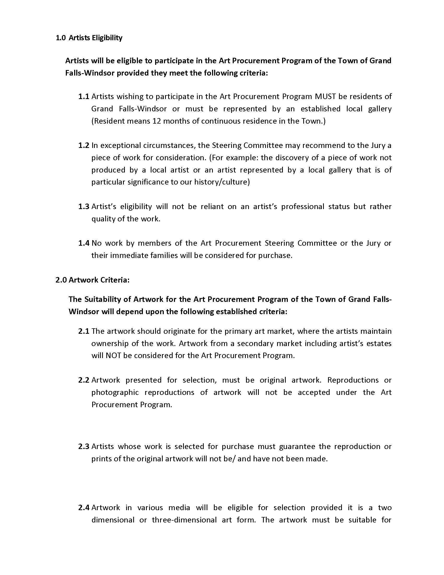 ART PROCUREMENT REGULATIONS 2017 Revised Page 3