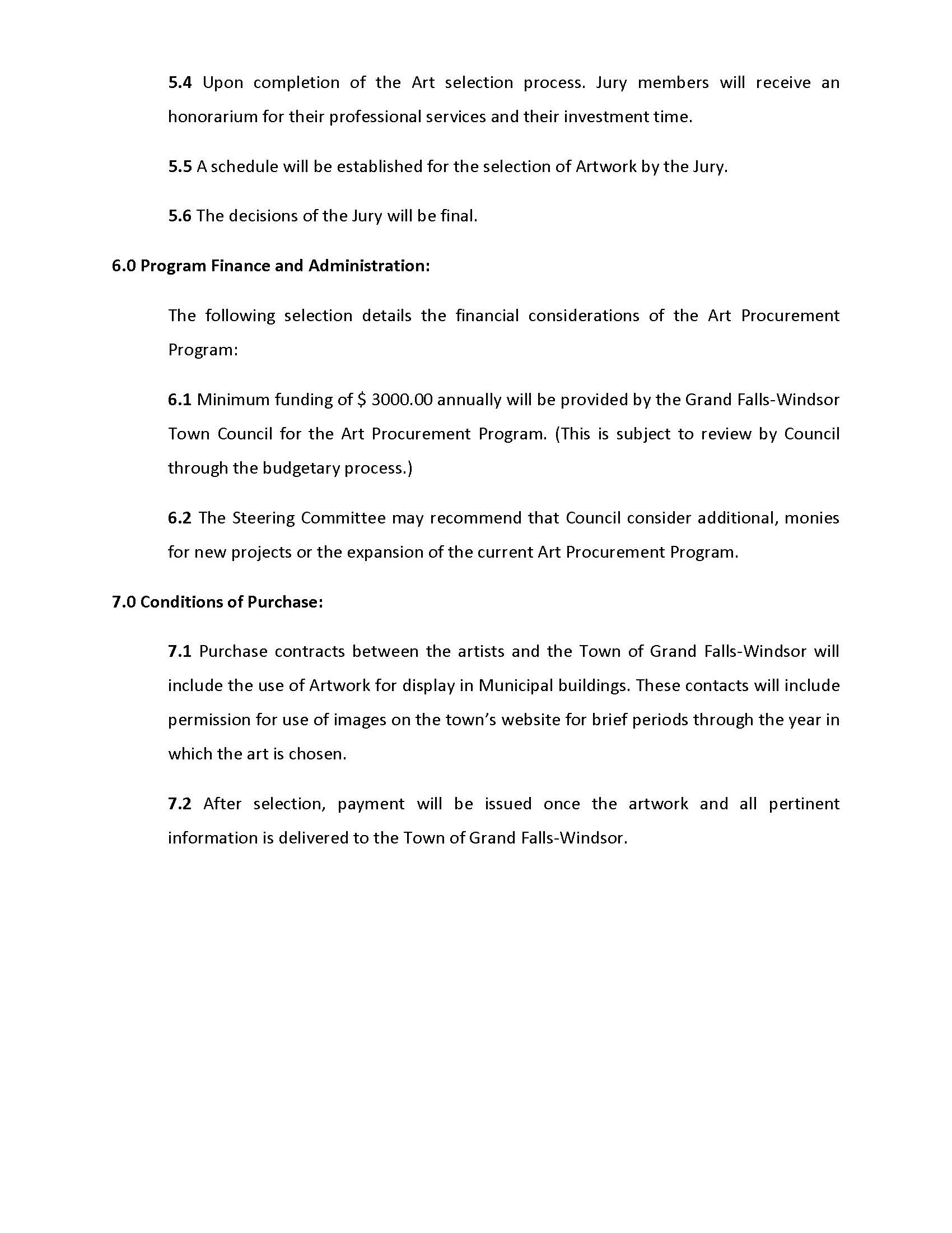 ART PROCUREMENT REGULATIONS 2017 Revised Page 6